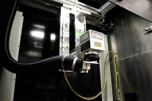 Mark-and-Move™ Gantry laser system, faster than flatbed lasers