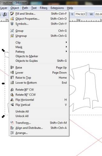 How to merge text border in Inkscape, compare to CorelDraw