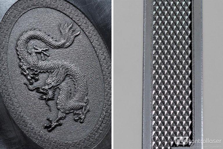 2.5D Laser engraving aluminum