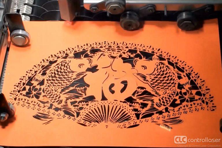 Laser die cutting paper