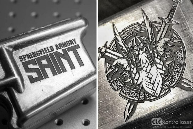 Laser deep engraving firearms and tools