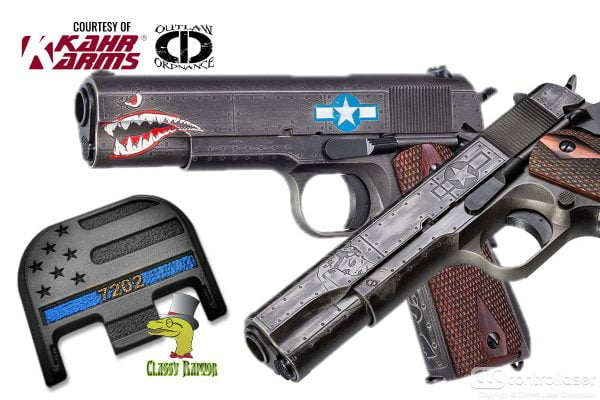 Custom laser engraved firearms and accessories