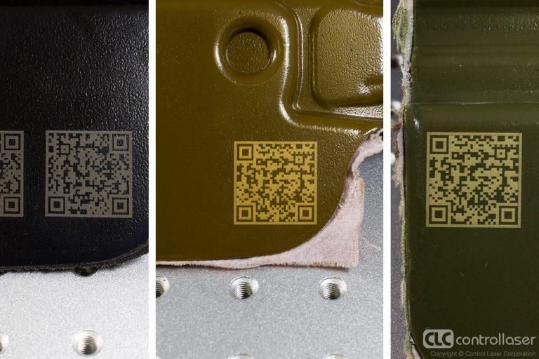 Laser marking of kydex plastic
