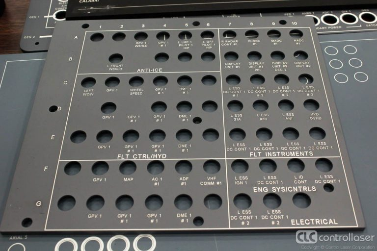 Laser marking backlit aircraft avionics panels