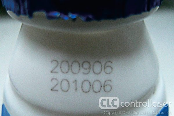 Laser marking polypropylene milk bottles with serial code