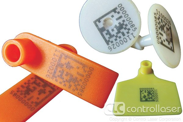 Laser marked plastic tags