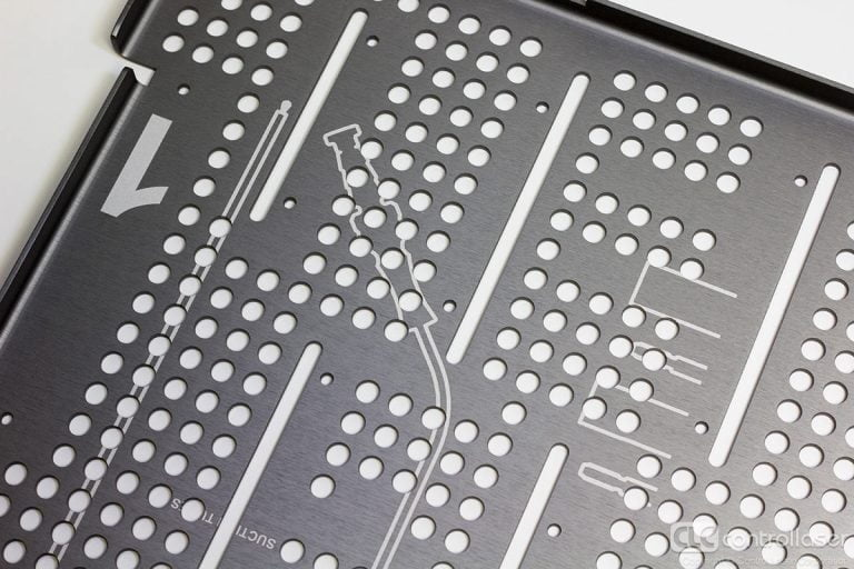 Laser marked medical tools tray